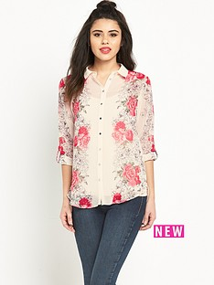 miss-selfridge-miss-selfridge-vertical-floral-shirt