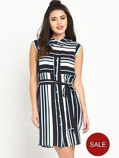 miss-selfridge-stripe-shirt-dressnbsp
