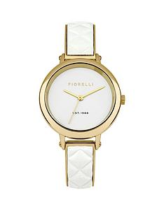 fiorelli-fiorelli-white-dial-gold-tone-metal-and-white-leather-bangle-ladies-watch