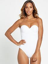 Underwired Textured Macrame Back Swimsuit