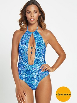 rochelle-humes-high-neck-printed-swimsuit