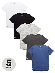 v-by-very-boys-marl-drop-hem-t-shirts-5-pack