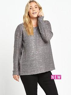junarose-curve-sequin-knit-jumper