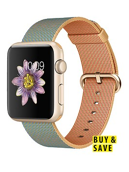apple-watch-sportnbsp42mm-gold-aluminium-case-with-royal-blue-woven-nylon