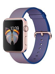 apple-watch-sportnbsp42mm-rose-gold-aluminium-case-with-royal-blue-woven-nylon