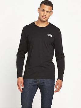 the-north-face-long-sleeve-easy-mens-t-shirt-black