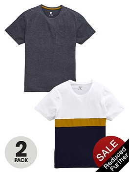v-by-very-colour-block-and-marl-t-shirts-2-pack