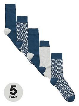v-by-very-5-pack-geo-pattern-socks