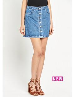miss-selfridge-miss-selfridge-button-mini-denim-skirt
