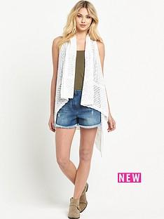 v-by-very-pointelle-sleeveless-high-low-hem-cardigan
