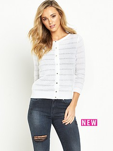 v-by-very-pointelle-stitch-gold-button-cardigan