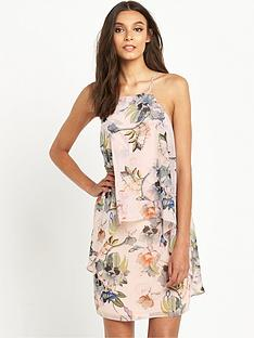 miss-selfridge-printed-double-layer-dress