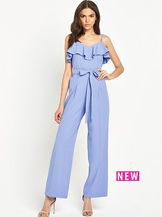 miss-selfridge-strappy-ruffle-jumpsuit-bluenbsp