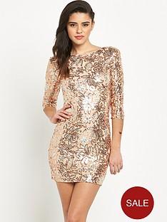 tfnc-paris-floral-sequin-bodycon-dress