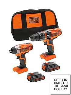black-decker-bdchim18b-gb-18v-lithium-ion-twin-pack-kit-contains-18v-hammer-drill-18v-impact-driver-2-x-15ah-batteries-1-x-charger-softbagnbspfree-prize-draw-entry