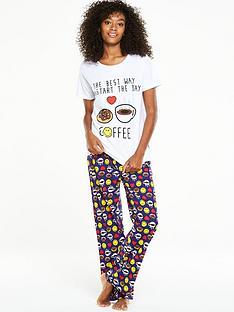 emoji-i-love-coffee-pj-set
