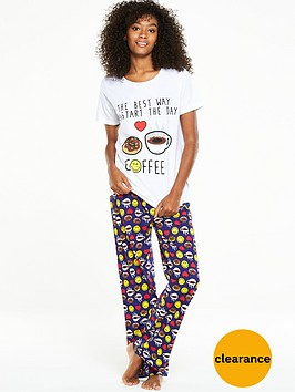 emoji-i-love-coffee-pj-set