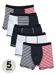 mini-v-by-very-boys-contrast-stripe-trunks-5-pack