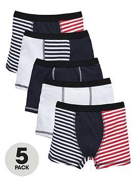 mini-v-by-very-boys-contrast-stripe-trunks-5-pack