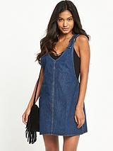 Litton Denim Pinafore Dress