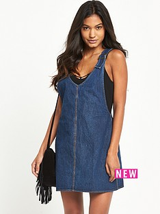 motel-motel-litton-denim-pinafore-dress