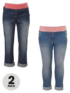 mini-v-by-very-girls-cuff-jeans-with-ribbed-waists-2-pack