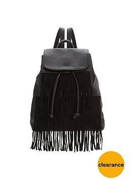 glamorous-fringe-backpack-black