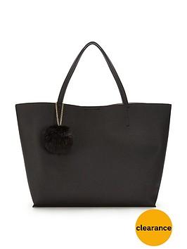 glamorous-pom-pom-tote-bag-black