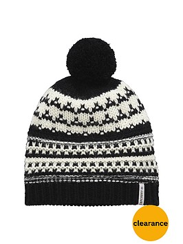 superdry-nordic-bobble-hat-blackcream