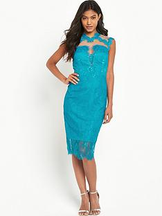 little-mistress-little-mistress-high-neck-lace-bodycon
