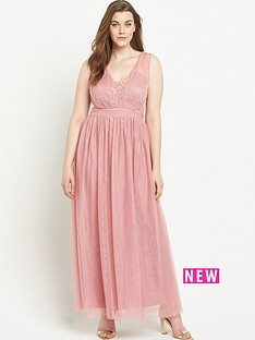 little-mistress-curve-little-mistress-curve-emb-pleated-mesh-maxi