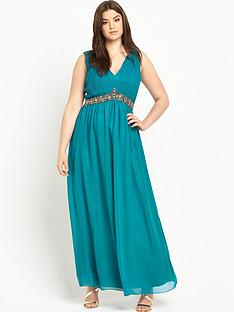 little-mistress-curve-embellished-v-neck-maxi-dressnbsp