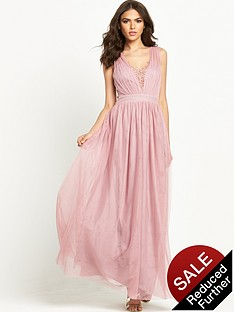little-mistress-embellished-pleated-mesh-maxi-dress-rose