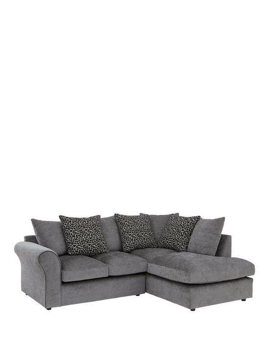 Nala Right Hand Fabric pact Corner Chaise Sofa