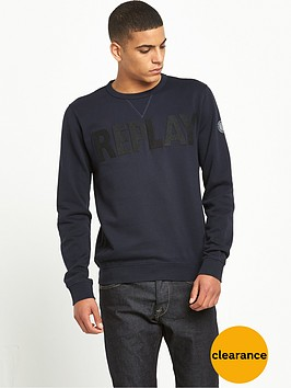 replay-logo-crew-sweatshirt