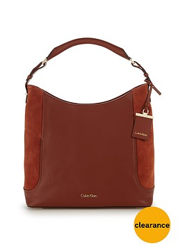 calvin-klein-leather-suede-hobo-bag