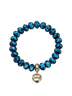 fiorelli-fiorelli-metallic-blue-bead-bracelet-with-gold-tone-heart