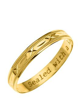 love-gold-9ct-yellow-gold-diamond-cut-4mm-wedding-band-with-message-039sealed-with-a-kiss039