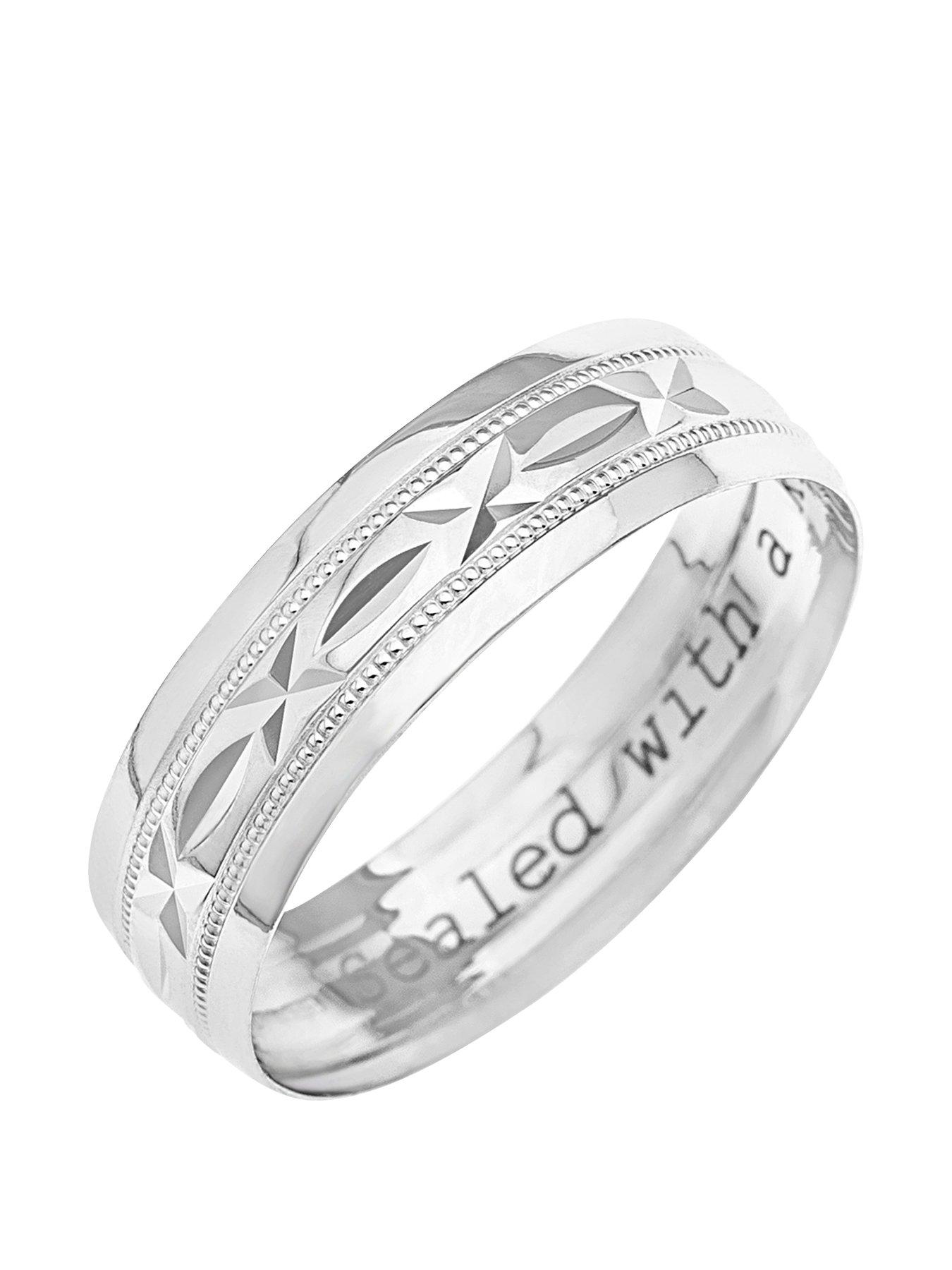 9ct White Gold Mens Rings Gifts jewellery wwwverycouk