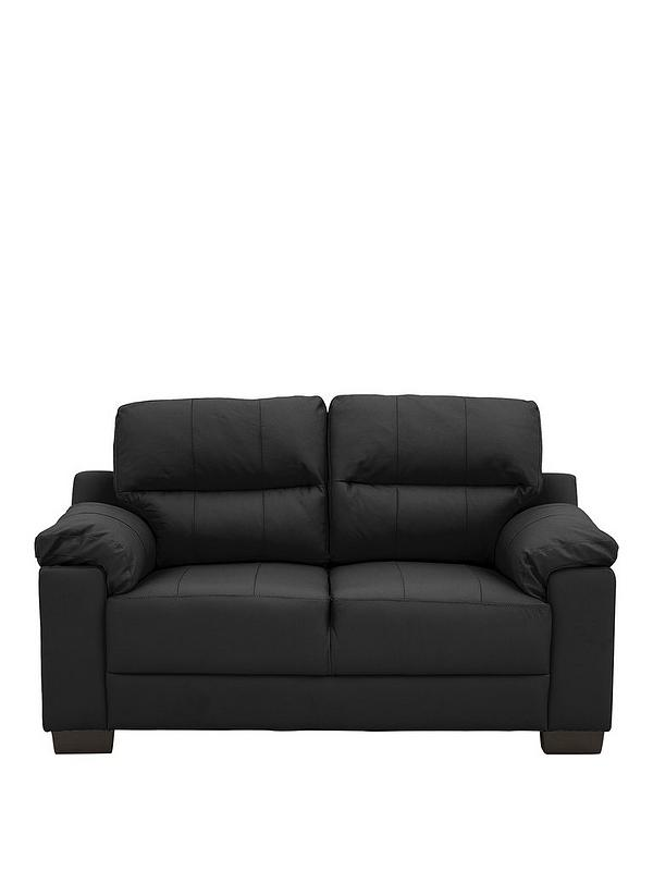 Saskia LeatherFaux Leather 2 Seater Compact Sofa