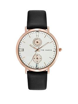 ted-baker-ted-baker-multi-function-black-leather-strap-ladies-watch