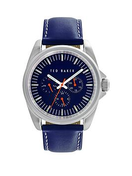 ted-baker-ted-baker-multi-function-blue-leather-strap-mens-watch
