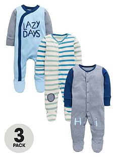 ladybird-baby-boys-3-pk-fashion-stripe-sleepsuits