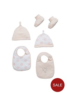 ladybird-baby-girls-bibs-hats-and-booties-accessory-set-5-piece