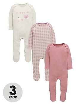 ladybird-baby-girls-kitten-sleepsuitsnbsp3-pack