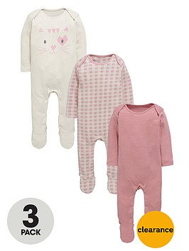 ladybird-baby-girls-kitten-sleepsuitsnbsp3-pack