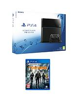 1Tb Black Console with The Division and Optional Extra DualShock Controller, 365 PSN Subscription