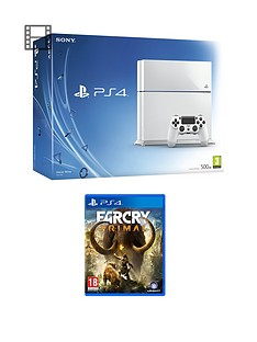 playstation-4-500gb-white-console-with-far-cry-primal-and-optional-extra-dualshock-controller-365-psn-subscription