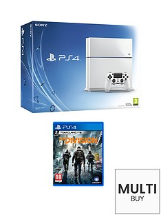 playstation-4-500gb-white-console-with-the-division-and-optional-extra-dualshock-controller-365-psn-subscription