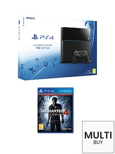playstation-4-1tb-black-console-with-uncharted-4-a-thiefs-end-and-optional-extra-dualshock-controller-365-psn-subscription